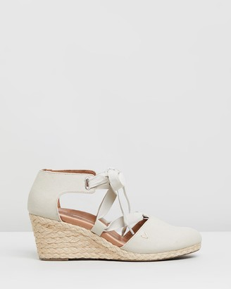 Vionic Women's Neutrals Heels - Kaitlyn Wedges - Size One Size, 5 at The Iconic