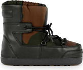 Moncler Petit Jules leather snow boots 3-9 years