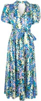 Badgley Mischka Floral Pattern Wrap Dress