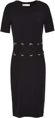 MICHAEL Michael Kors Lace-up Stretch-knit Dress