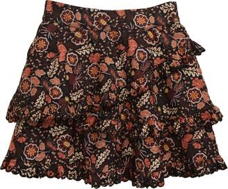 Scotch R'Belle Kids' Floral Print Ruffle Skirt