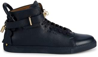 Buscemi Buckled Leather High-Top Sneakers