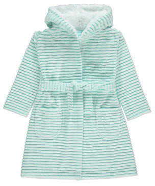 George Blue Rippled Fleece Dressing Gown