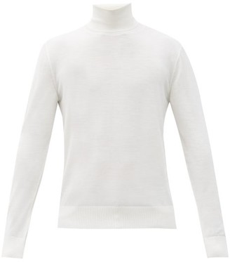 Dolce & Gabbana Roll-neck Wool Sweater - White
