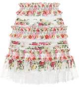 Zimmermann Radiate linen and silk miniskirt
