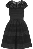 Temperley London Sierra Jacquard-Paneled Macramé Lace Dress