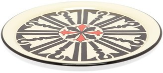 Les Ottomans - Hand-painted Iron Tray - Black Multi