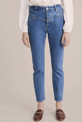 Witchery Yoke Detail Tapered Jean