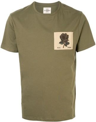 Kent & Curwen rose patch crew neck T-shirt
