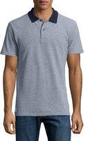 Wesc Ingo Contrast-Trim Polo Shirt, Navy Blazer