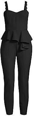 Parker Black Women's Kimora Lace Detail Peplum Jumpsuit - Size 0