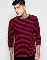 Armor Lux Long Sleeve T-Shirt in Breton Stripe