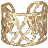 Dominique Cohen 18k Gold Open-Weave Cuff with Diamonds