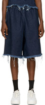 Marques Almeida Indigo Denim Track Shorts