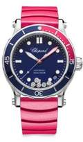 Chopard Happy Ocean Diamond & Fabric Strap Watch