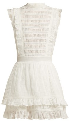 Sir - Aurelie Open-back Cotton Dress - Womens - White
