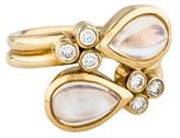 Temple St. Clair 18K Moonstone & Diamond Mummy Ring
