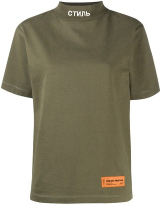 Heron Preston mock-neck cotton T-shirt