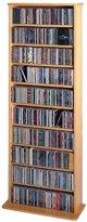 Leslie Dame CDV-500 High Capacity Oak Veneer Multimedia Cabinet, Oak