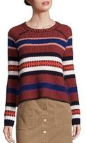 Tory Burch Monterey Jacquard Merino Wool Sweater