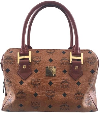 MCM Boston Brown Leather Handbags