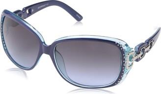 Southpole Women's 1017sp Nytq Non-Polarized Iridium Round Sunglasses