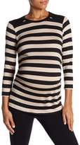 LAmade Sienna Long Sleeve Striped Tee (Maternity)