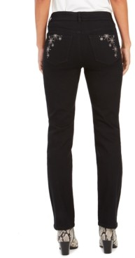 Style&Co. Style & Co Straight-Leg Bling Pocket Jeans, Created for Macy's