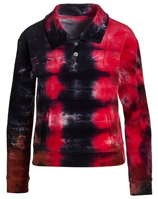Tie-Dye Velour Sweatshirt