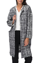 Bobeau Black & White Plaid Rowen Fleece Jacket
