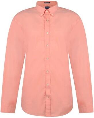 Gant Long Sleeved Poplin Shirt Mens