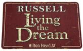 """Personal Creations Personalized Living The Dream Doormat - 17"""" x 27"""""""
