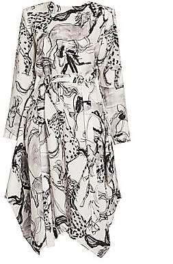 Stella McCartney Women's Belted Horse-Print Silk Dress