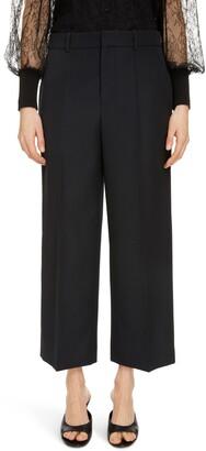 Givenchy Crop Wide Leg Wool Pants