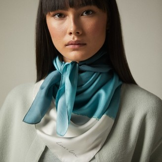 Love & Lore Love And Lore Colour Field Foulard Scarf Bluegrass
