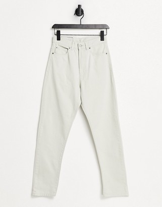 Dr. Denim Shift Workers high rise mom jeans in stone
