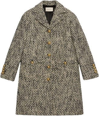 Gucci Tweed Single-Breasted Coat