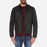 Barbour International Men's Oil Wax Jacket Black