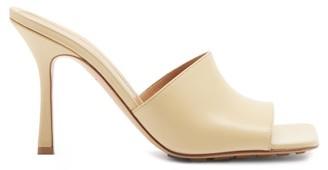 Bottega Veneta Stretch Square-toe Leather Mules - Beige