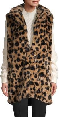 RENVY Animal-Print Faux Fur Vest