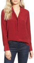 Madewell Women's Tie Neck Blouse