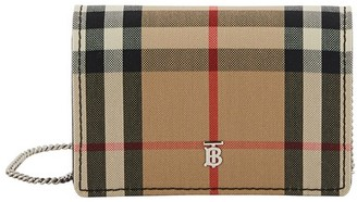 Burberry Vintage Check Card Case with Detachable Strap
