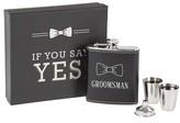 Cathy's Concepts Groomsman Flask Set