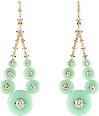 Fernando Jorge Gravity Medium Chrysoprase Earrings