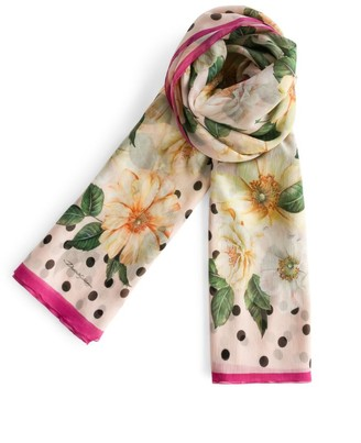 Dolce & Gabbana Silk Camellia Print Scarf
