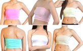 Soho Girls Emma's Mode Junior Bandeau Strapless Tube Top 115-NPK-PNK-MNT-PYL-WHT-NUD
