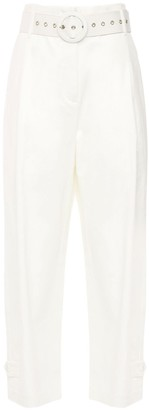Cult Gaia Derah Stretch Cotton Straight Leg Pants
