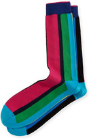 Paul Smith Vertical Cycle-Stripe Socks, Multicolor