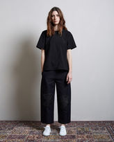 Alexander Wang Cropped Low-Waisted Distressed Pant