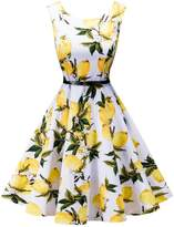 Fit Design FitDesign Women's 1950s A Line Vintage Dresses Audrey Hepburn Style Floral Party Dress